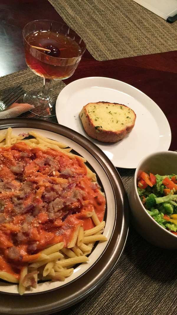 These easy meals for single guys includes Penne Rosa, a quick recipe for bachelors that doesn't sacrifice taste.