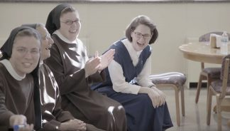 This 23-year-old heard God's call to religious life. Here she is having fun with her sisters.
