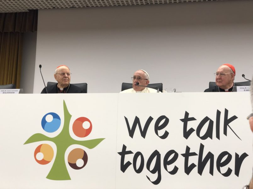 Share your thoughts with Pope Francis by engaging with the Gathering in Rome on social media.