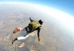 Wondering how to be courageous? This author's literal leap out of a plane taught him how.