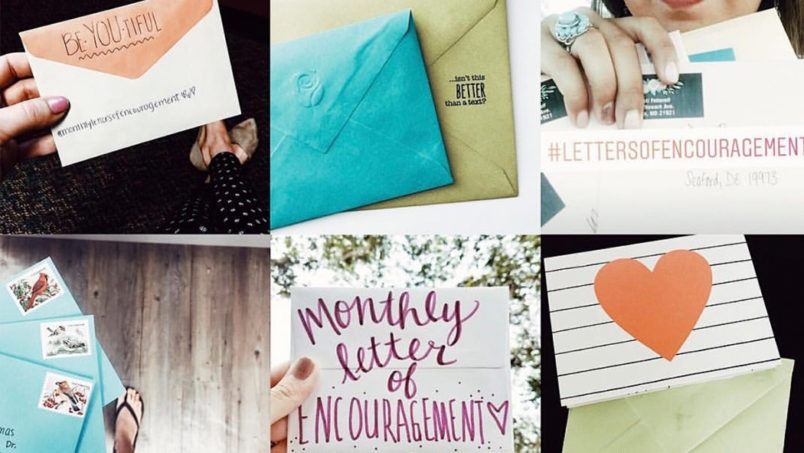 This author encourages others through monthly letters of encouragement. Read how she found a passion for sharing snail mail with strangers.
