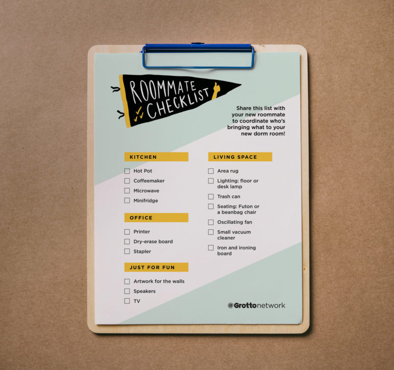 Free Download: College Packing Checklist for New Roommates