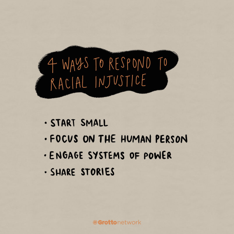 Respond to racial oppression by following these four ways.