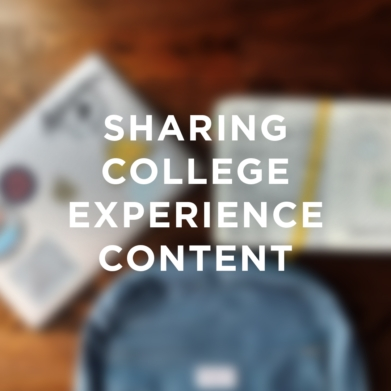 Sharing college experience content.